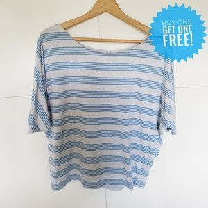 Cotton On Short Sleeve Striped Top Size Small